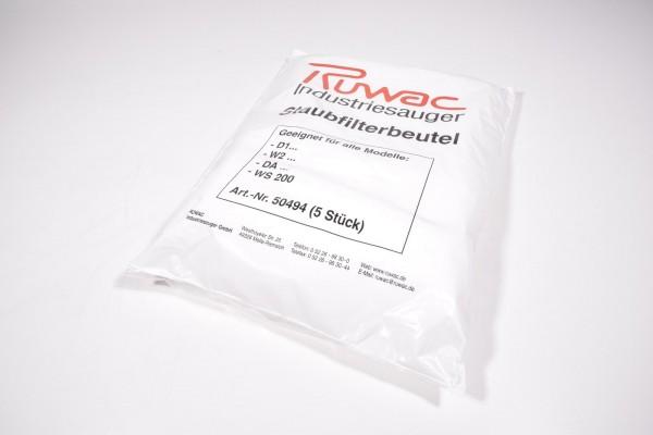 RUWAC 50494, Staubfilterbeutel - NEU (1PE = 5Stk.)