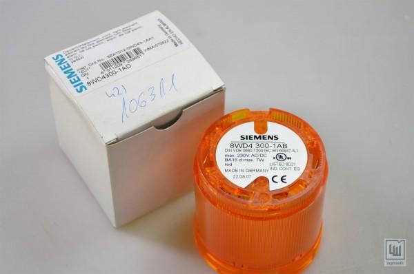 SIEMENS 8WD4300-1AB / 8WD4 300-1AB Signal Column BA 15D, 70mm, Orange