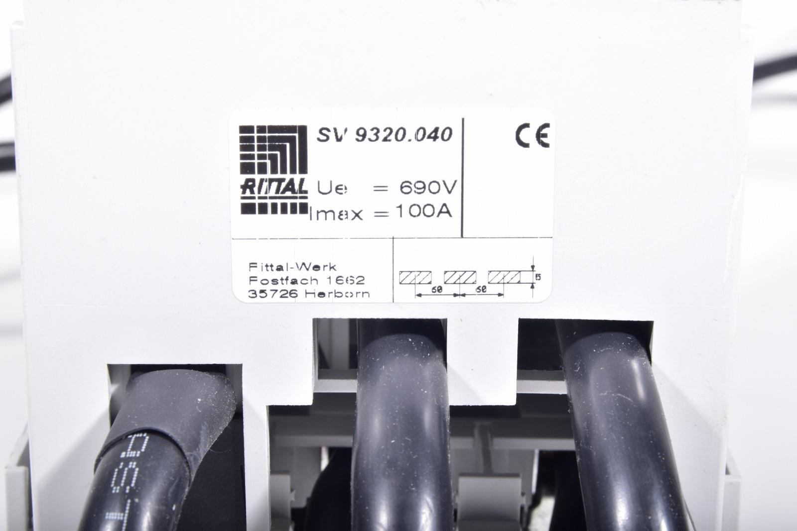 Rittal SV9344.000 SV9344000 Sicherungslasttrenner used