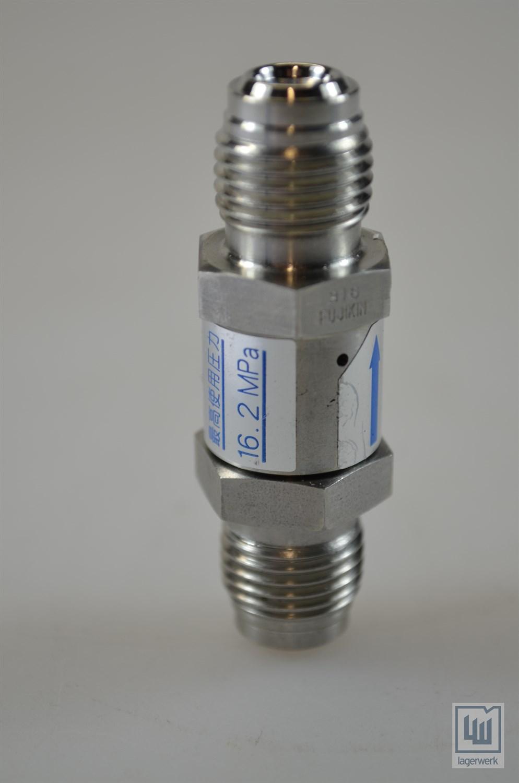 Fujikin válvula antirretorno//Line Check Valve c.100493 6.86 kPa 16.2 MPa