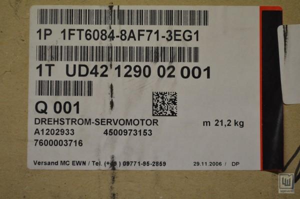 SIEMENS 1FT6084-8AF71-3EG1 / 1FT6 084-8AF71-3EG1, Drehstrom-Servomotor / synchronus-servomotor