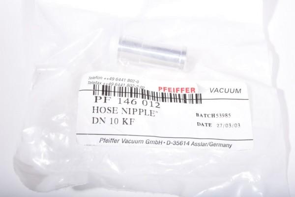 PFEIFFER VACUUM PF 146 012, Schlauchadapter DN 10 ISO-KF - NEU