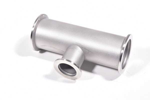 Reduzier-T-Stück ISO-KF, DN 40, DN2 25, Länge 130mm, Edelstahl