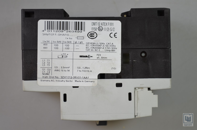 Siemens 3rv1011-0ha10 New