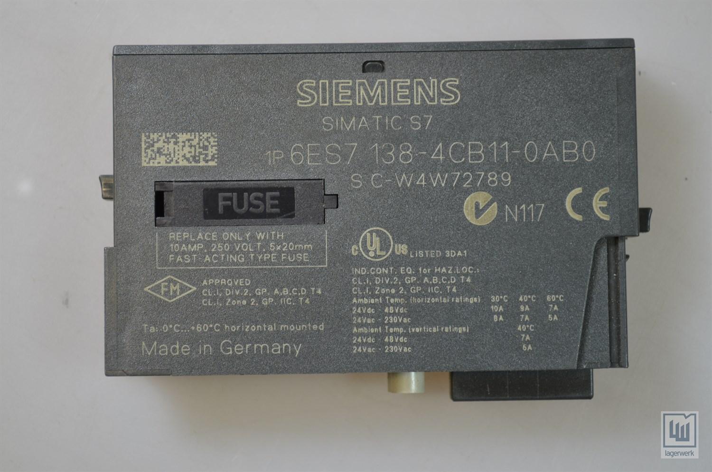 PM-e Siemens 6es7138-4cb11-0ab0//6es71384cb110ab0