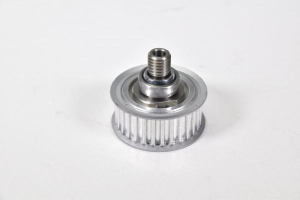 Zahnriemenscheibe Stahl mit Schwenklager Außen-Ø 50mm Riemenbreite 18mm