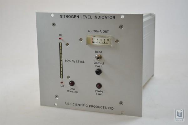 A.S. SCIENTIFIC PRODUCTS LTD. Stickstoff Füllstandsanzeige / nitrogen level indicator