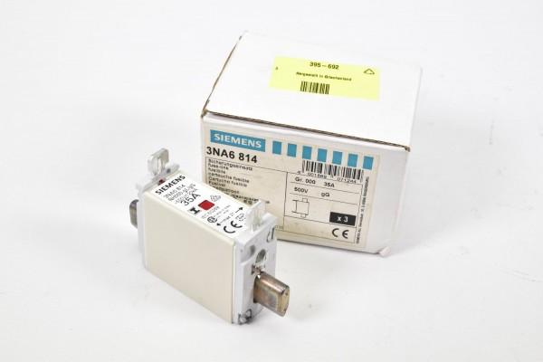 SIEMENS 3NA6814, NH-Sicherungseinsatz NH000 35A (1PE=3Stk.) - NEU