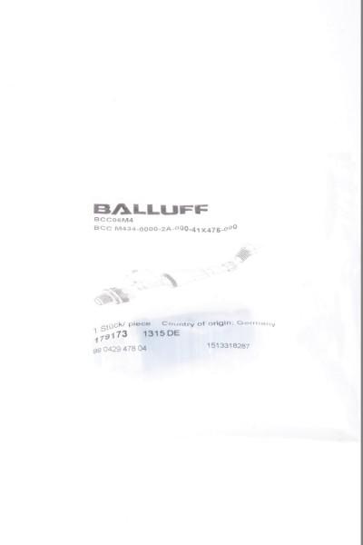 BALLUFF 179173, BCC06M4, BCC M434-0000-2A-000-41X475-000, Steckverbinder - NEU