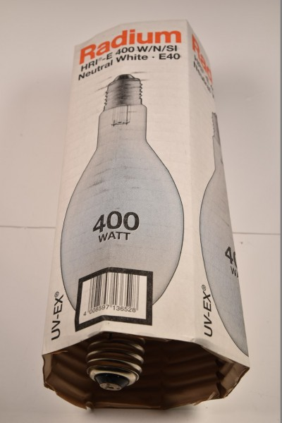 Radium HRI-E 400 W/N/SI, Halogenmetalldampflampe E40