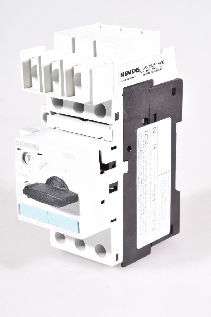 3rv1021 4da10 3rv10214da10 Siemens Circuit Breaker With Connector Lagerwerk Gmbh