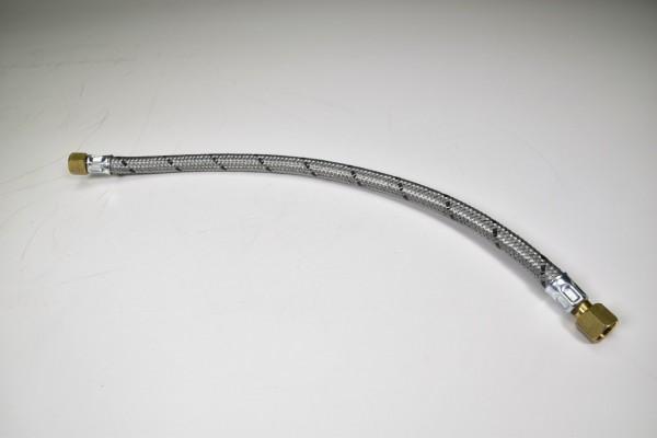 """Flexschlauch mit Edelstahlumflechtung, Länge: 400mm, 1/2"""", Messingkupplung"""