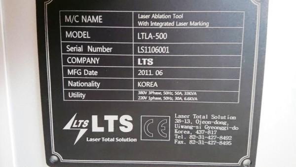 LTS LTLA-500 / LTLA500, Laser Ablation mit integrierter Lasermarkierung 355nm