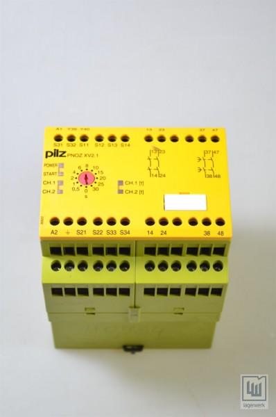 PILZ 774550, PNOZ XV2.1 30/24-240VACDC 2n/2ö, Not-Aus-Schaltgerät