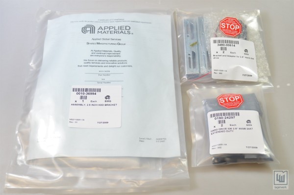 APPLIED MATERIALS 0240-62543, Kit, 2.5 Festplatte, Halterung (3 teilig) - NEU