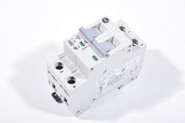 ALLEN BRADLEY 1492-SP2C160 / 1492SP2C160, Leitungsschutzschalter C16, 2 polig