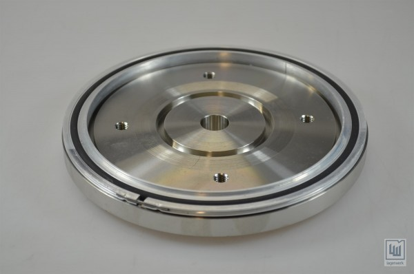 Übergangsflansch, Reduzierflansch D=180mm, Bohrung=17mm, Edelstahl/ Reducer, Reducing Flange, D=180mm, drilling=17mm, stainless steel