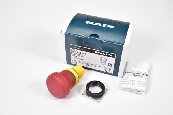 RAFI 1.30.243.501/0300, RAFIX 22QR, Not-Halt-Taster - NEU