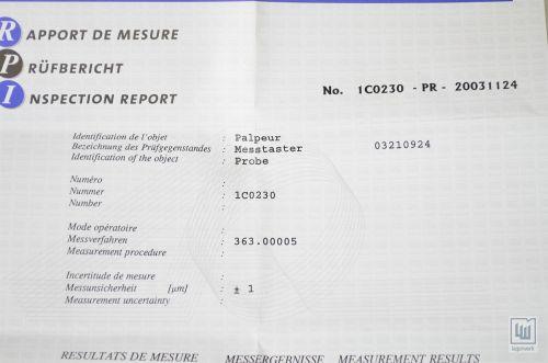TESA 032.10924 / 03210924 / 0321 0924, axial probe - NEW | eBay
