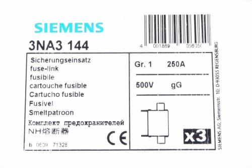 Siemens 3na3 144 Lv Hrc Fuse Link 1pu3pcs New Ebay